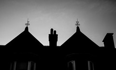 untitled-1-1045 (CWhatPhotos) Tags: cwhatphotos camera photographs photograph pics pictures pic picture image images foto fotos photography artistic that have which contain flickr silhouette silhouetted roof tops sky stanley bw mono black white rooftop rooftops