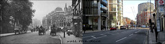 Knightsbridge`1909-2019 (roll the dice) Tags: london westminster kensingtonchelsea sw1 old streetfurniture architecture local history sad mad surreal changes collection canon travel transport tourism tourists people fashion retro edwardian bygone vanished demolished urban classic uk art shops shopping bus taxi tube underground expensive oldandnew pastandpresent hereandnow horsecart nostalgia comparison magic cigars lights ornate busstop trees cars shaving windows traffic wheels time natural clock