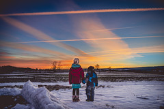 Waiting on the Warmth (freundsport) Tags: landscape sunrice sky clouds morning outside nature night snow winter light people family new 100x2019 child sun home cloudscape