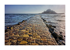ST MICHAELS MOUNT CAUSEWAY (Barry Haines) Tags: cornwall sea wall marazion sony a7r2 a7rii 21mm loxia distagon concrete sky st michaels mount causeway