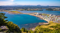 View from Seongsan Ilchulbong (Jeju, South Korea) (patuffel) Tags: seongsan ilchulbong south korea 한라산 volcano hallasan unesco worldheritage sea blue sky world heritage leica m10 28mm beach