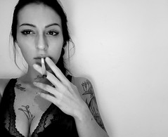 black&white (melissapalmosi) Tags: blackandwhite smoking blackwhite woman lips womanlips hand love tattoos realpeople people youngwoman