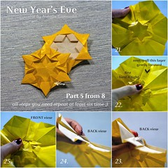 Tutorial New Year's Eve - part 5 (talina_78) Tags: origami star hexagon tutorial
