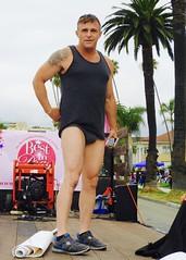 DSCN1452 (danimaniacs) Tags: longbeachpride bestindragshow bids hot sexy man guy mansolo shorts underwear bulge tanktop tattoo