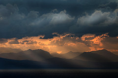 Sicilian Mountains (HWHawerkamp) Tags: italy cefalu mountains mood travel colours clouds beauty evening sunrise