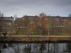 Moat Walker (amipal) Tags: 175mm capital city copenhagen denmark europe holiday kastellet manuallens reflections travel urban voigtlander