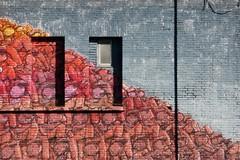 il mucchio selvaggio (fotomie2009) Tags: roma via prenestina centro sociale occupato autogestito exsnia murale murales windows finestre muro lazio italy italia diagonal mattoni bricks street art ex snia mural conceptual the wild bunch blu