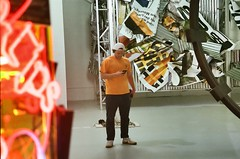 (youngkurama) Tags: themarguliescollection thewarehouse miami florida art exhibitions photography gallery wynwood artdistrict film 35mm canon canonrebel february 2019 life traveling shooters neon lights gralt portrait onlyny colors indoors