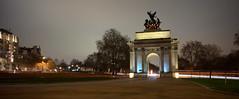 Wellington Arch (EricMakPhotography) Tags: london longexposure night light trails wellington architecture