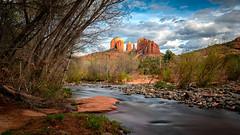 Cathedral Rock (jonwhitaker74) Tags: landscape arizona az sedona clouds panorama