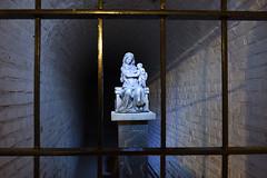 Maria behind bars. (wimjee) Tags: nikond7200 nikon d7200 afsdx1680mmf284eedvr abdijlilbosch abdij abbey lilbosch limburg nederland bunkerkapel bunker kapel chapel fbpage