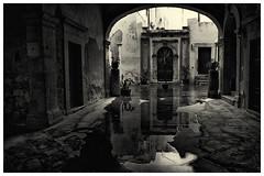 reflejos en la calle mojada (bit ramone) Tags: blancoy negro wet agua calle street blacandwhite bitramone elitegalleryaoi bestcapturesaoi aoi