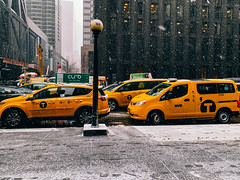 They Run in Packs (RomanK Photography) Tags: manhattan nyc newyorkcity street streetphotography streets streettogs city iphone shotoniphone taxi taxicab yellowcab