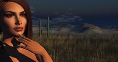 Distant Closeness (Saga Mea) Tags: avatar sl secondlife girl 3d 3dart metaverse virtualworld desert portrait