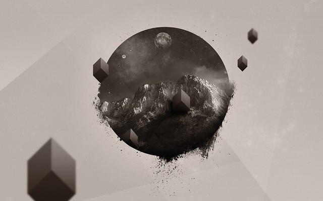 Обои планета, свет, круги картинки на рабочий стол, фото скачать бесплатно