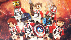 LEGO Avengers: Endgame | Semi-Purist Quantum Realm Edit (MGF Customs/Reviews) Tags: lego avengers endgame captain america iron man thor black widow hawkeye ronin nebula ant quantum realm suits time travel custom figure minifigure