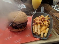 Smoke Burger and Loaded Fries (Pyrolytic Carbon) Tags: burger smokeburger mobile chips food