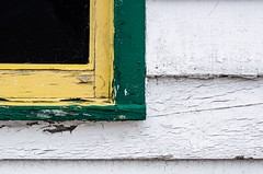 Turn the Corner (vanessa violet) Tags: corner turnthecorner wood siding worn weathered paint home house window wednesday