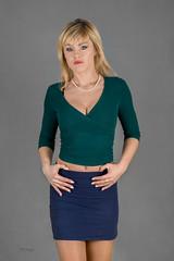 Ania in mini skirt (piotr_szymanek) Tags: ania aniaz woman young skinny face eyesoncamera studio portrait blonde 1k 20f 50f