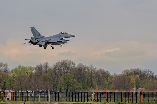 F-16 KLu - J-020 - back to home after the exercise 'Frisian Flag'