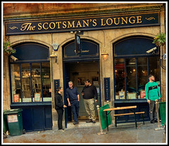 The Scotsman's Lounge (FotoFling Scotland) Tags: bar edinburgh men pub scotsmanslounge streetphotography