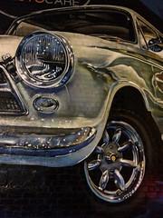 Silver Car (markshephard800) Tags: car voiture auto silver mural art graffiti wheel chrome lamps grill paisley renfrewshire scotland urban wall grafitti light