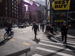 Street scene (Vincent F Tsai) Tags: newyorkcity nyc street streetphotography urban best buy sun light winter people panasonic lumixgx8 lumixg14mmf25