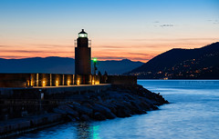 _DSC1386 - Find a fisherman (AlexDROP) Tags: 2018 europe genoa liguria italy twilight art travel color landscape city sea nikond750 afsnikkor28300mmf3556gedvr best iconic famous mustsee picturesque postcard bluehour
