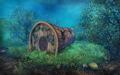 Treetrunk house (BananaN!) Tags: lotr bananan secondlife fantasy elven elf treetrunk house