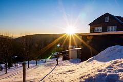sunset (A.K. 90) Tags: sunset cloudssunsetsstormssunrise blendenstern winter snow schnee cold kalt evening hills berge schiefergebirge thüringerwald sonyalpha6300 e18135mmf3556oss bluesky blauerhimmel