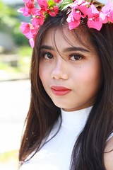 IMG_2581 (Sharmila Padilla) Tags: flowers lady canon portrait ladies balloon outside play pinkflowers pink photography street modes happy joy smile pretty sports white road makeup