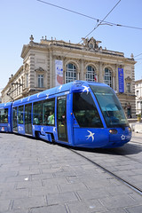 Tramway Comédie... Montpellier (Last Border of the Picture) Tags: montpellier hérault agglomération métropole méditerranée languedoc midi occitanie france méridional europe alstom citadis 401 tam ligne 1 t comédie bleu blue opéra théâtre theater pavé place pavement rail railway hirondelle swalow white blanc mosson réseau urbain urban network caténaire catenary tragédie bâtiment building transdev pantographe pantograph 2024 ville saint brès tourne turn virage 3 m rame tram tramway unit caisse box service transport transportation