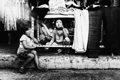 Owl Sisters (Meljoe San Diego) Tags: meljoesandiego fuji fujifilm x100f streetphotography cloth children candid monochrome philippines