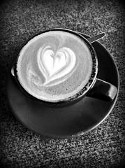 2019 Sydney: B&W Love My Coffee (dominotic) Tags: 2019 food bwcoffee mezzapicacafenortonstreetleichhardt iphone8 foodphotography blackandwhite yᑌᗰᗰy coffeeobsession sydney australia