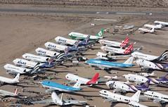 Mojave Airport (corkspotter / Paul Daly) Tags: mojave kmhv mhv desert boneyard storage aerial photo boeing airbus 747 707 727 cv880 cv990 747sp 747400 747300 747200 md11 dc10 dc8 qantas thai atlas airlines southern air transport klm martinair ati eva