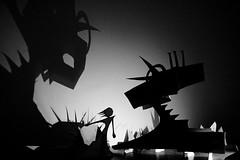 Shadowscape 1 (Skyler Brown Art) Tags: architecture art artwork bw blackwhite blackandwhite creepy dark female girl gothic noir paper sculpture woman