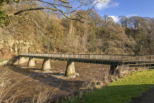 Bridge over River Weir at Finchale Priory