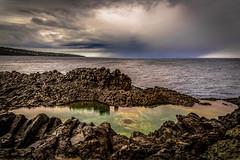 ... the small lake ! (antonioprincipato) Tags: lake pond sea clouds sky reef pantelleria island sicily mediterranean antonioprincipato