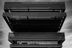 Facade of De Krook (Dave Schoeters) Tags: facade building architecture landmark europe urban city lines pattern patterns blackandwhite bw library ghent flanders belgium gent dekrook symmetry
