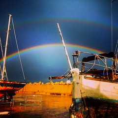 Two Rainbow near the sea   #blue (michelimadnote) Tags: blue rainbow photographie photography sea niceshot beautiful beautifulday run beauty belle romantique love