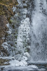 Dog Creek Waterfall 2 (lamoustique) Tags: waterfall dogcreek skamaniacounty washington usa snow ice landscape