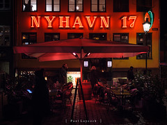Nyhavn 17 (amipal) Tags: 175mm capital city copenhagen denmark europe holiday lowlight manuallens night restaurant travel urban voigtlander nyhavn canal riverside social bar colour