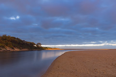 Pre-dawn at the Lagoon (Merrillie) Tags: daybreak wamberalbeach sand sunrise morning nature dawn cloudy surf overcast wamberal clouds newsouthwales sea earlymorning nsw centralcoast beach ocean lagoon landscape sky coastal seascape outdoors waterscape australia coast water seaside