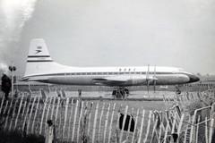 G-ANBF. British Overseas Aircraft Corporation Bristol Britannia 102 (Ayronautica) Tags: ayronautica aviation scanned heathrow egll lhr airliner propliner turboprop boac britishoverseasaircraftcorporation bristolbritannia102 ganbf august 1956