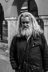 generation (jernej.cucek) Tags: portrait man person people bw monochrome street art streetart timeless time shadow black light white blackandwhite guitar musician