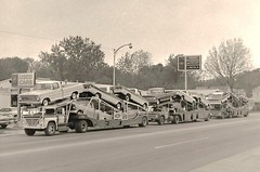1967 Fords: Dealer's Transport (PAcarhauler) Tags: ford f100 truck tractor trailer semi carcarrier