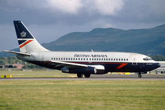 G-BKYP British Airways Boeing 737-236 at Edinburgh in Summer 19987 (Zone 49 Photography) Tags: aircraft airliner airlines airport aviation plane 1998 edi egph edinburgh turnhouse scotland ba baw british airways britishairways boeing737 boeing 737 200 236 gbkyp