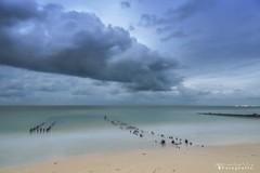 Chelem 9701 ch (Emilio Segura López) Tags: atardecer nube cielo mar arena playa espolon chelem yucatán méxico