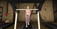 Post Milkshake run (AlanaXxo) Tags: secondlife firestorm gym working out a pink blueberry sweatsuit joggers versov ariana doux grande ascendent nails hair pony tail ponytail sneakers excersize