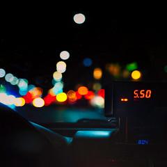 night moves (-liyen-) Tags: taxi night city urban bokeh dof car toronto fujixt2 challengeyouwinner numbers wn mpt702 matchpointwinner